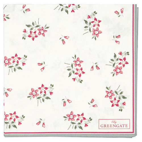 "Papierservietten ""Avery"" (white) von GreenGate. Paper napkin small"