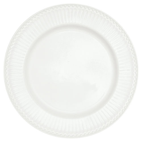 "Essteller ""Alice"" (white) von GreenGate. Speiseteller - Dinner plate"
