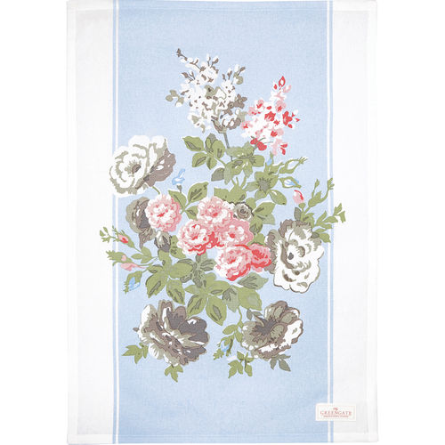 "Geschirrtuch ""Petricia"" (pale blue/piece printed) von GreenGate. Tea towel"